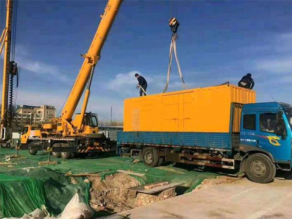 邯郸万科工程建设租赁一台大型静音发电机组